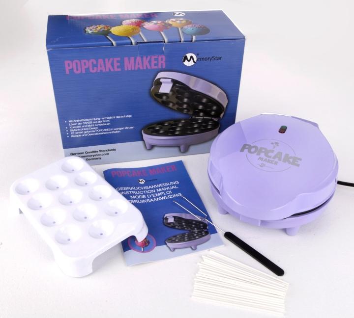 memorystar pc12 popcake muffin donut cup cake pop maker pop cake ger t maschine ebay. Black Bedroom Furniture Sets. Home Design Ideas